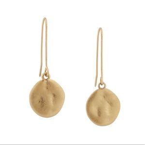 Paillette single drop earrings